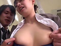 Hottest Japanese slut in Horny Office, Group Sex JAV movie