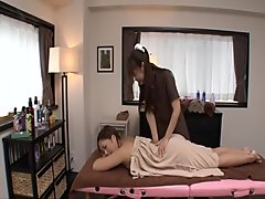 Erotic massage leads Maika to insane lesbian scene - More at Japanesemamas.