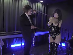 Fabulous Japanese chick in Amazing Threesome, BDSM JAV scene